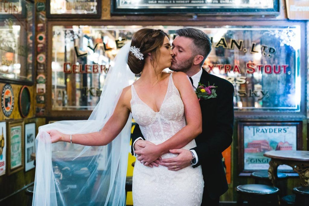 Duke of York Belfast Wedding Kiss