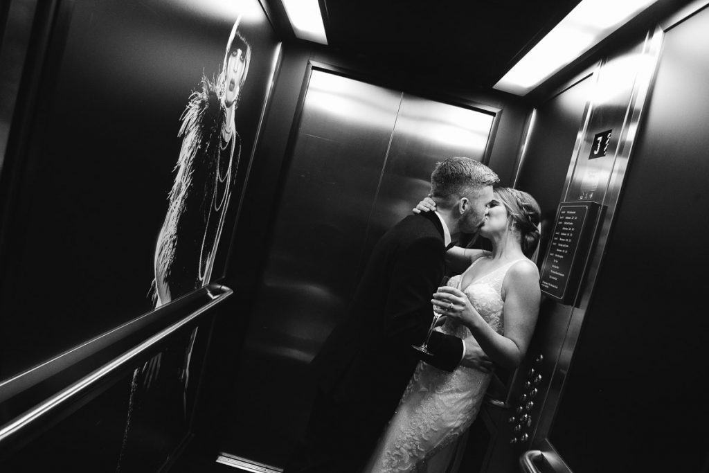 Merchant Hotel Bride and Groom elevator