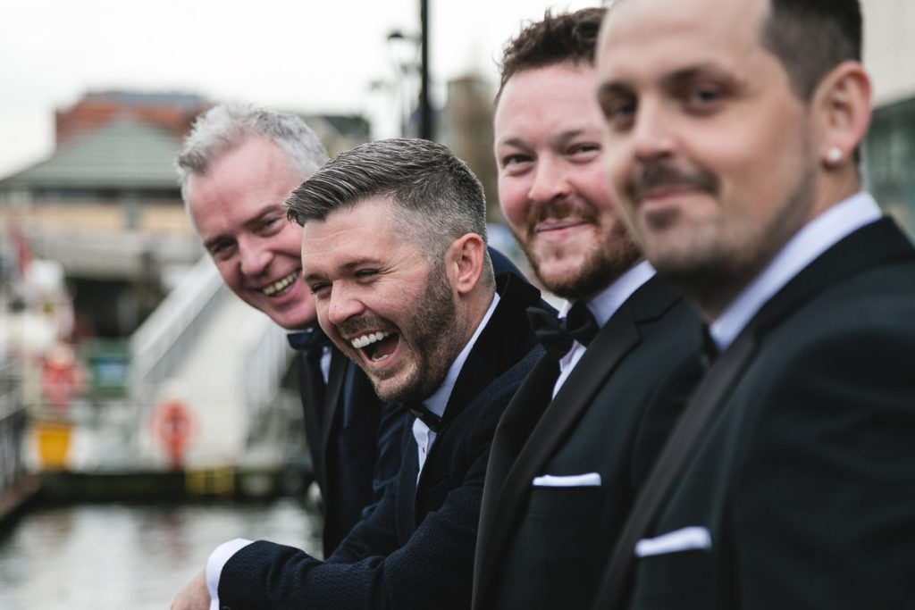 Belfast wedding photographer Groom's Men