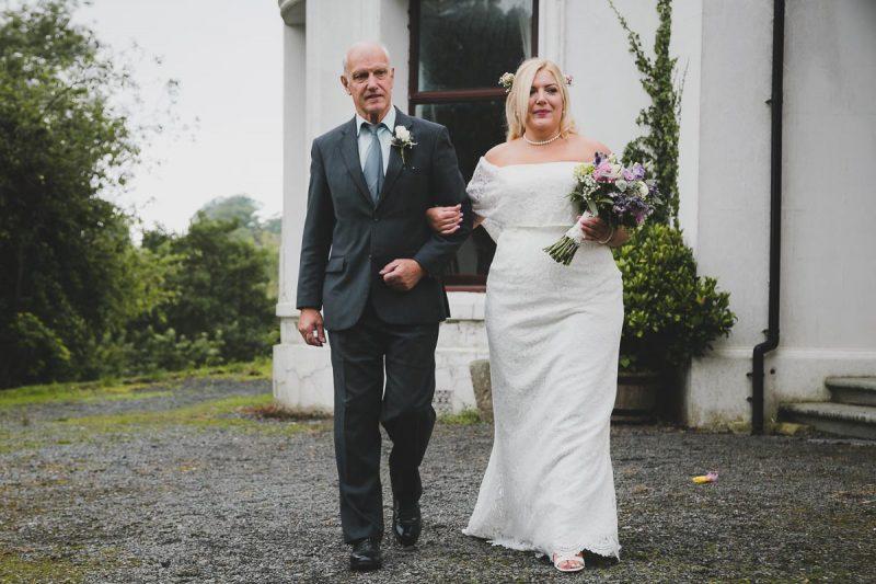 Seaforde Wedding Bride and father entrance