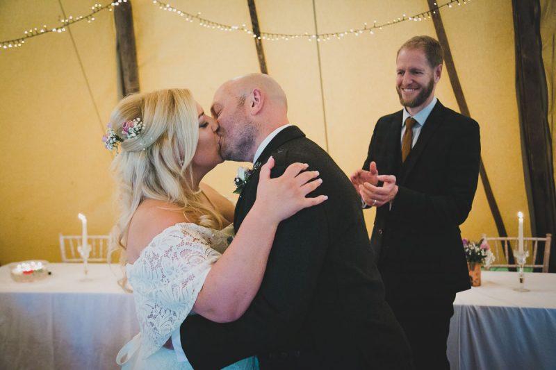 Seaforde Wedding Ceremony Kiss