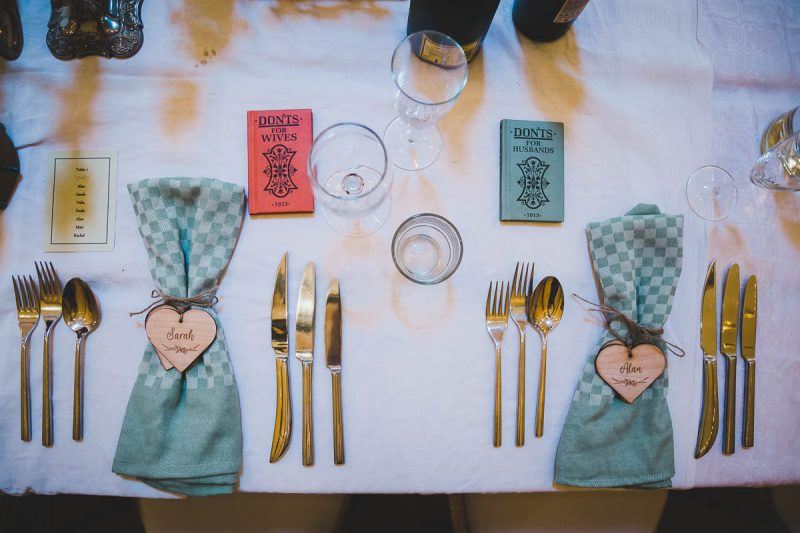 Seaforde Wedding table setting