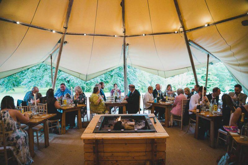 Seaforde Wedding dinner reception
