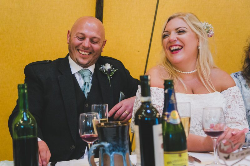 Seaforde Wedding Dinner party laughter