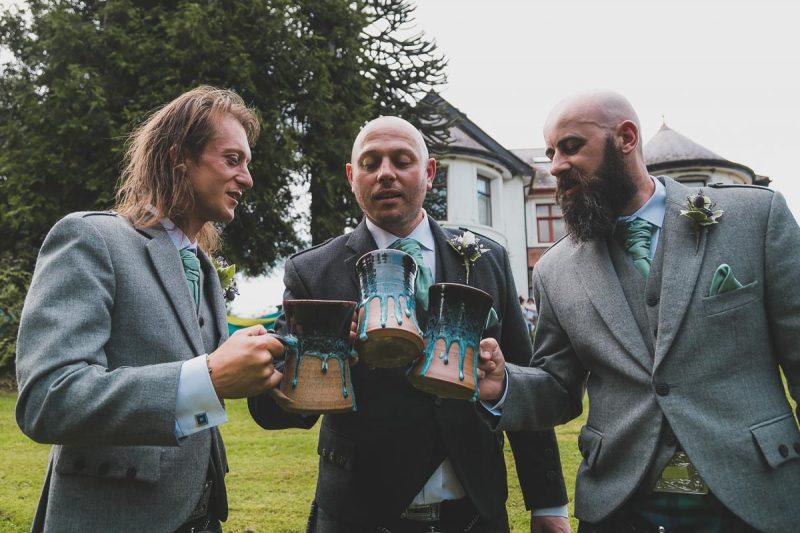 Seaforde Wedding Groomsmen and tankard