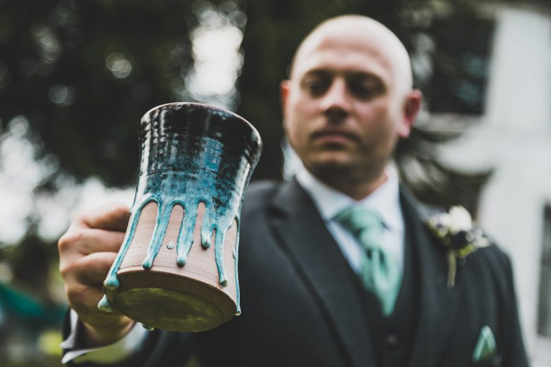 Seaforde Wedding Groom and tankard