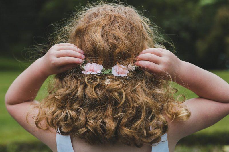 Seaforde Wedding Flower Girls Hair Detail
