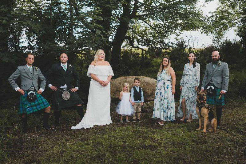 Seaforde Wedding Seaforde Wedding Bridal party by the dolmen