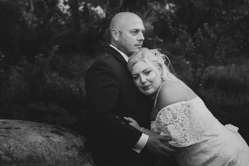 Seaforde Wedding Bride and groom by the dolmen